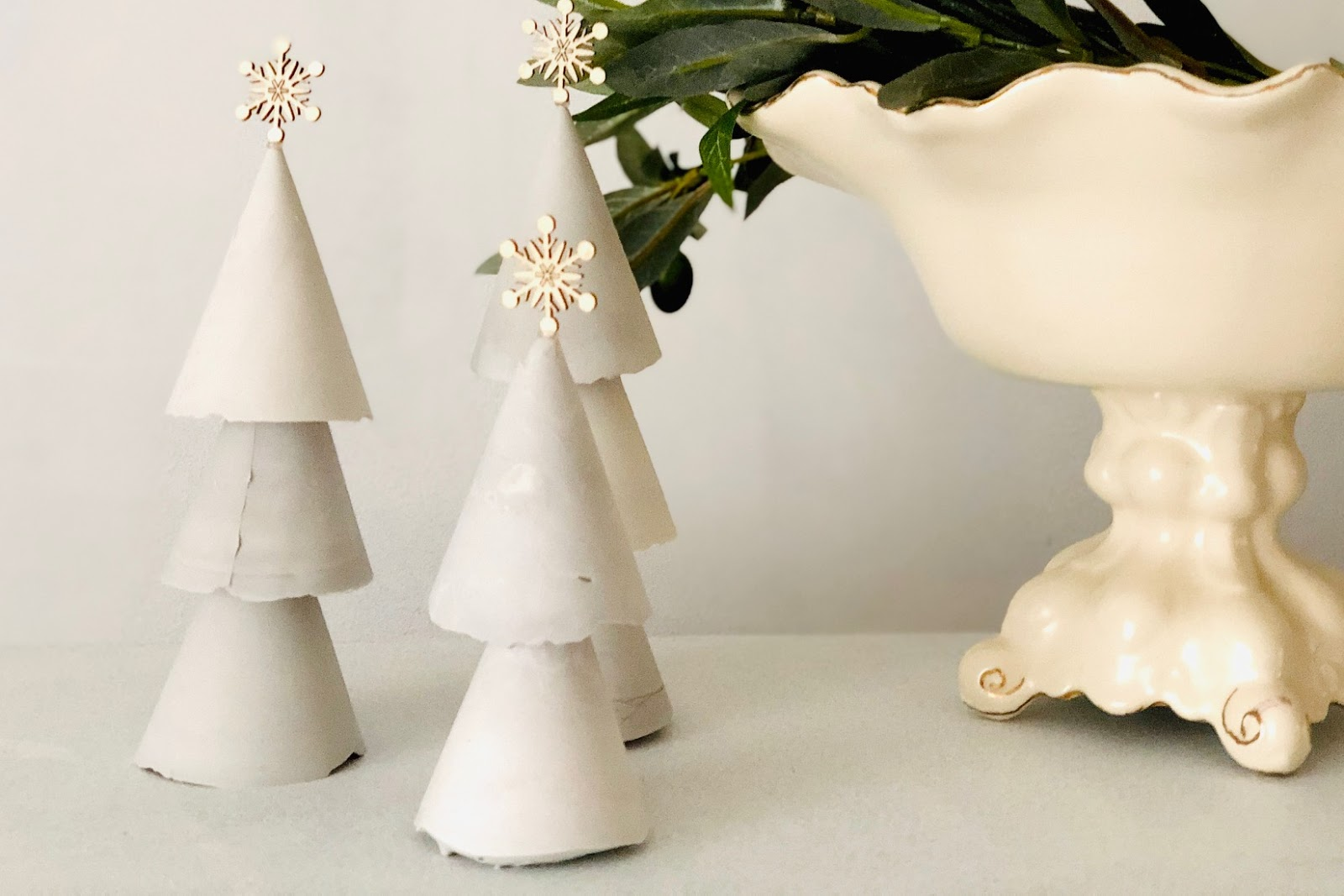 DIY Concrete Christmas Trees