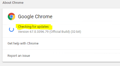 Chrome is checking for updates