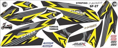 Striping Old Nmax Semifull custom grafis 1