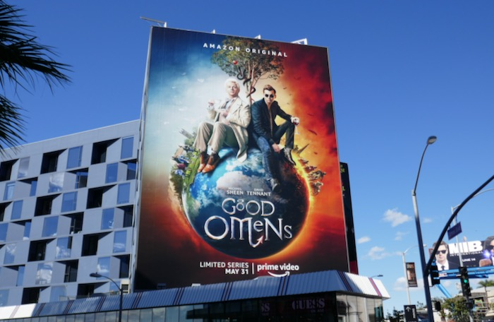Good Omens TV billboard