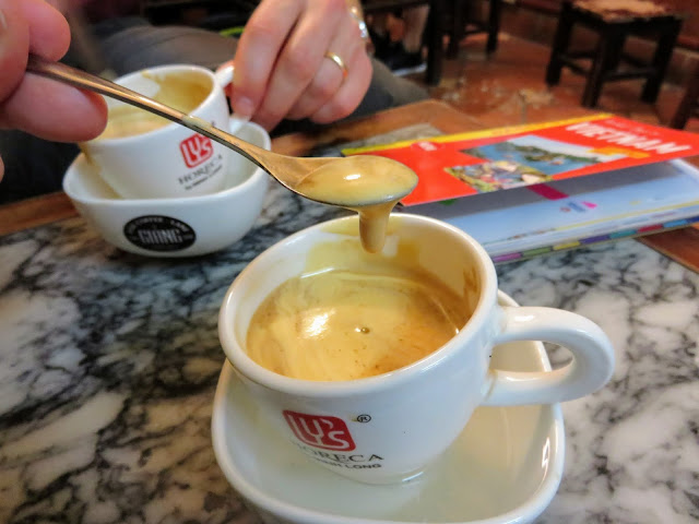 Egg Coffee at Cafe Giang in Hanoi Vietnam