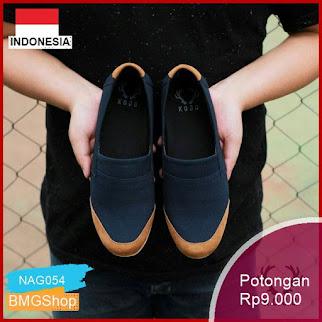NAG054 Kick Tone 01 Black Slipon Kasual Murah Bmgshop