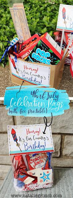 Fourth July Celebration Favor Bag Free Printables