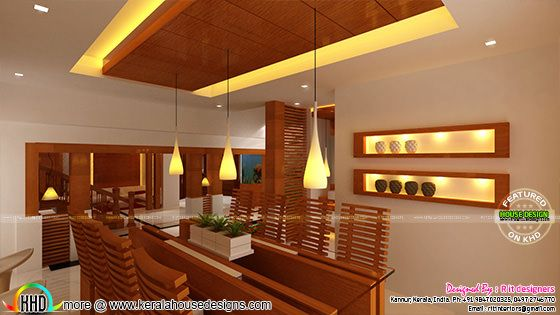 Dining interior with wooden finish