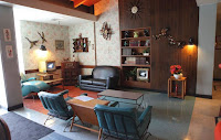 Nice interior with mid-century design