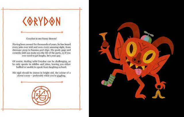 Ilustração da obra Um Livro Infantil dos Demônios, representando Corydon e seu sigilo.