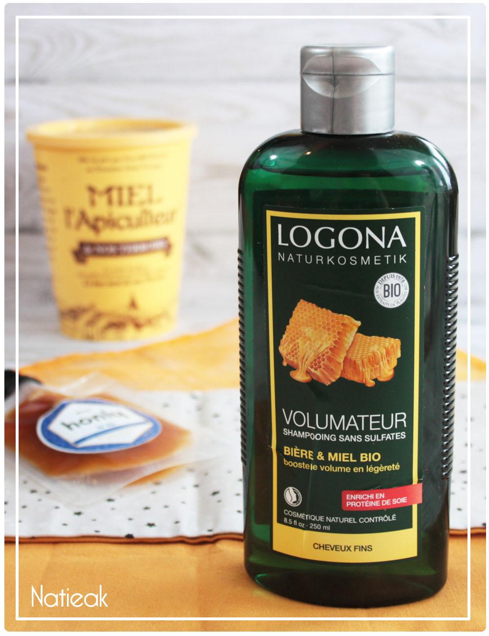 Shampoing volumateur bière et miel de Logona