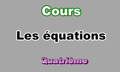Cours Sur les Equations 4eme en PDF