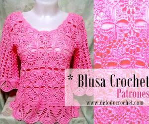 Blusa Crochet con Patrones y Video