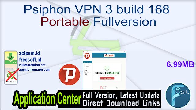 Psiphon VPN 3 build 168 Portable Fullversion