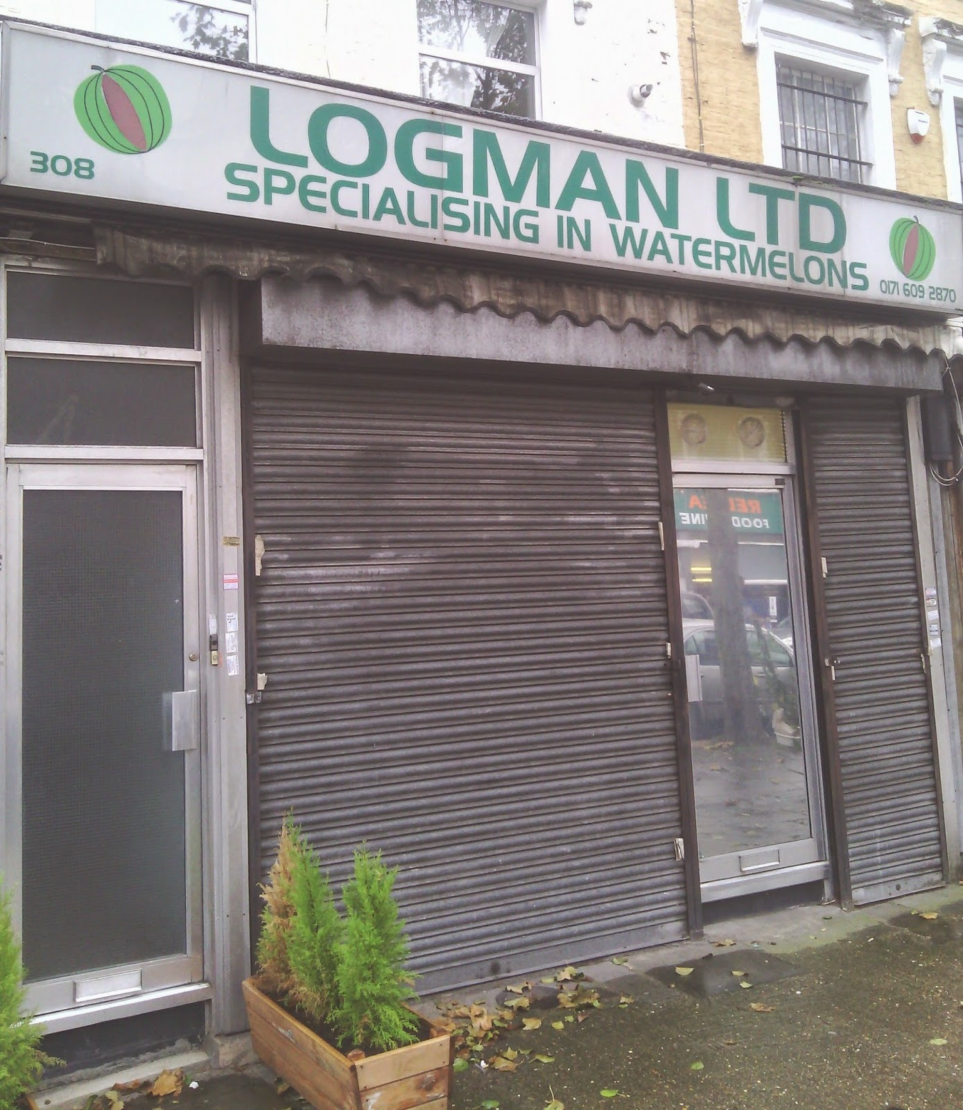 Logman Ltd - a business on Caledonian Road in London that specialises in watermelons