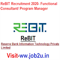 ReBIT Recruitment 2020, Functional Consultant, Program Manager