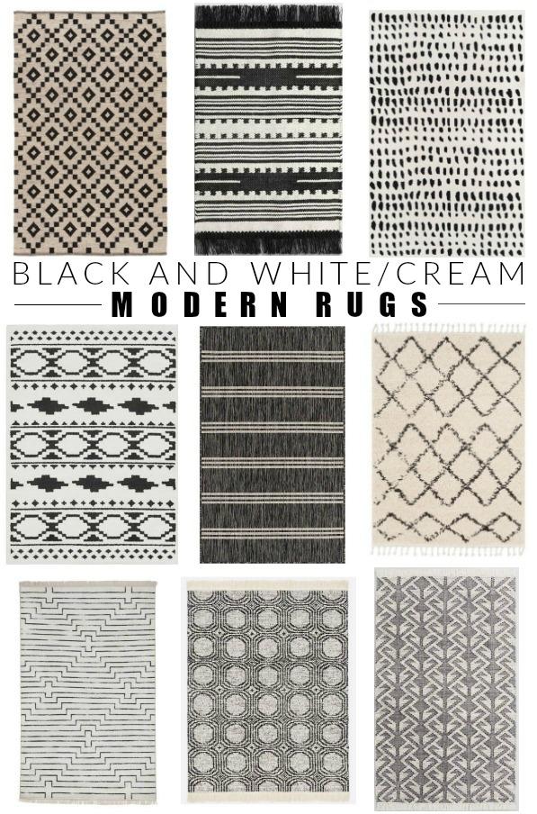 Modern black and white/cream rugs