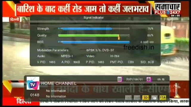 समाचार प्लस 24X7 न्यूज़ अब चैनल नंबर 95 पर, जाने इस चैनल की दद फ्रीडिश पर फ्रीक्वेंसी और चैनल नंबर।