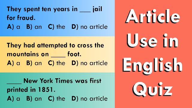 Article Quiz