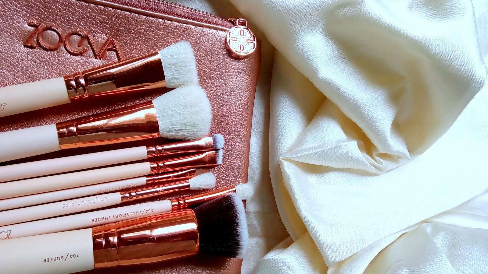 Review Of Zoeva Rose Gold Brush Set Dupe From Aliexpress Elegant Eves Dark Brown 8 Piece Bursh Bag Ali Express