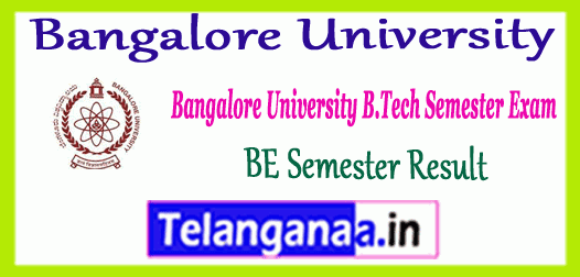 Bangalore University BE Result 2018 BU 3rd 4th 5th 6rh 7th 8th Semester Mark Sheet