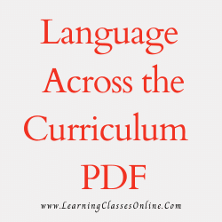 Language Across the Curriculum PDF download free in English Medium Language for B.Ed and all courses students, college, universities, and teachers