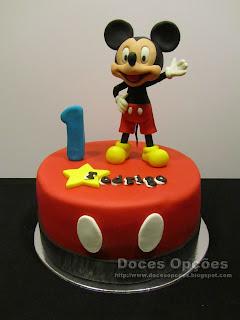 O mickey no 1º aniversário do Rodrigo