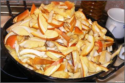 Oronjas laminadas preparadas para cocinar o congelar