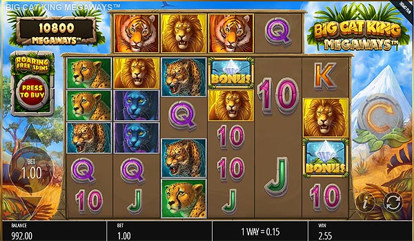 Main Slot Gratis Indonesia - Big Cat King Megaways (Blueprint Gaming)