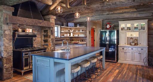 Rustic kitchen decoration