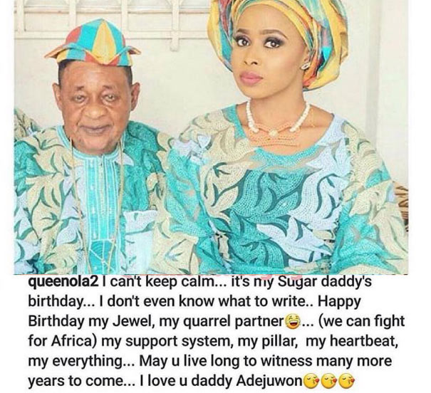 "Queen Ola wishes her ""sugar daddy,"" Alaafin of Oyo, happy birthday in unique way"