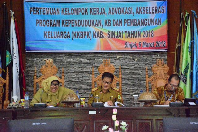 Plt Sekda Sinjai Launching Program KKBPK