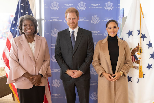Meghan Markle & Prince Harry squeeze in a visit to US Ambassador to the United Nations