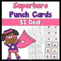 Superhero Punch Card