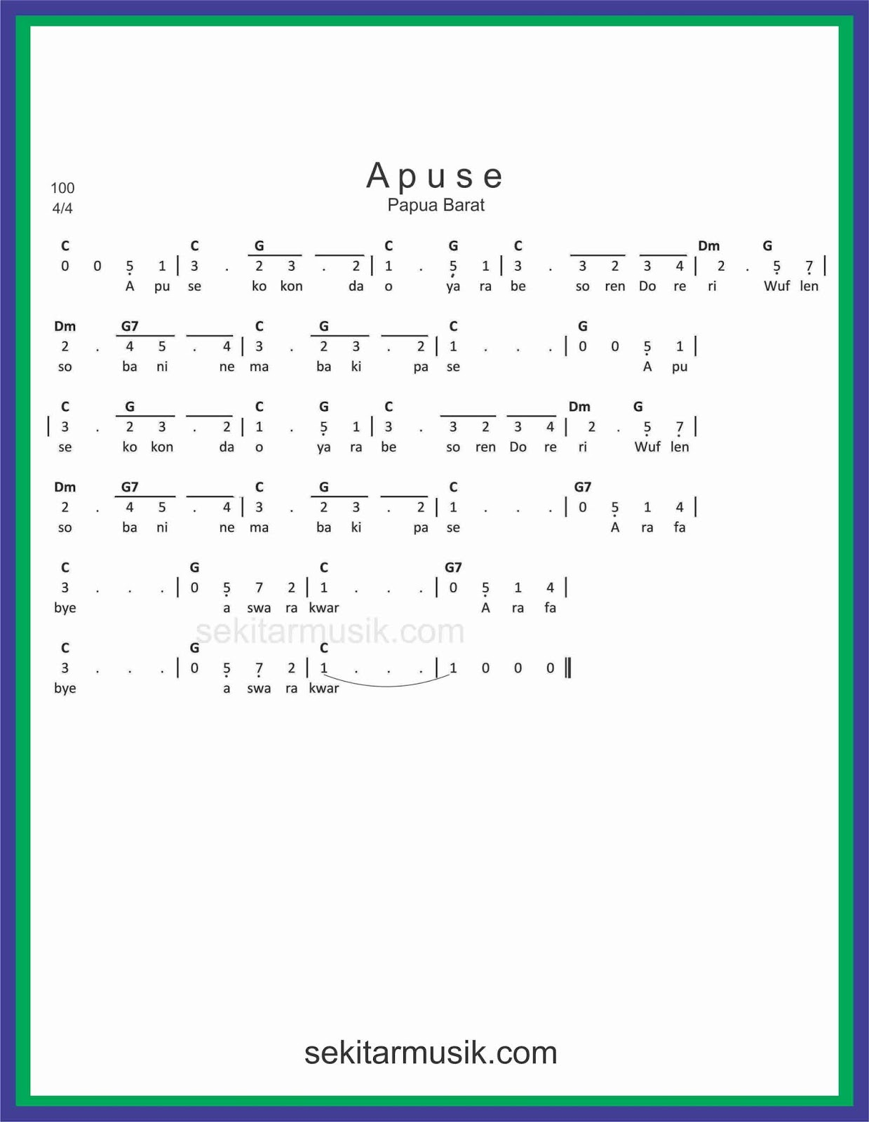 Lirik Lagu Apuse Dan Artinya : lirik, apuse, artinya, Angka, Apuse, SEKITAR, MUSIK