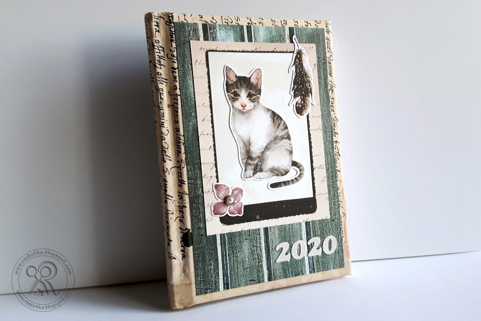 Kalendarz z motywem kota