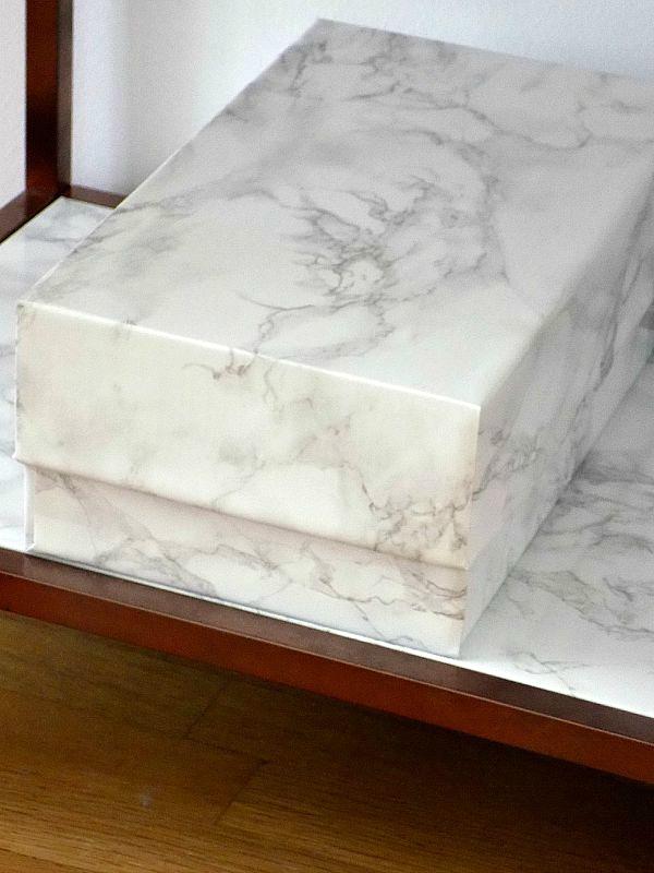 Marble storage box