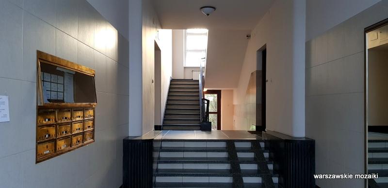 Warszawa Warsaw Gelbard Sigalin lata 30 Powiśle ulice Warszawy Śródmieście kamienica architektura architecture modernizm  klatka schodowa