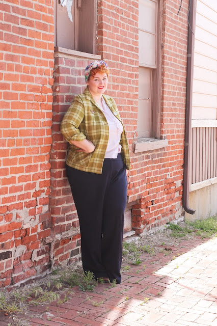 1940s pendleton 49er jacket factory girl outfit from va-voom vintage