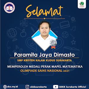 Paramita Jaya Dimasto Raih Medali Perak di Ajang Kompetisi Sains Nasional