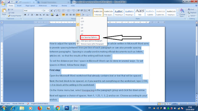 Cara Mengatur Spasi Pada Microsoft Word Agar Terlihat Rapi, cara mengatur tulisan agar rapi pada Microsoft word, cara mengatur jarak atau spasi agar terlihat rapi, cara membuat spasi menjadi rapi pada Microsoft word