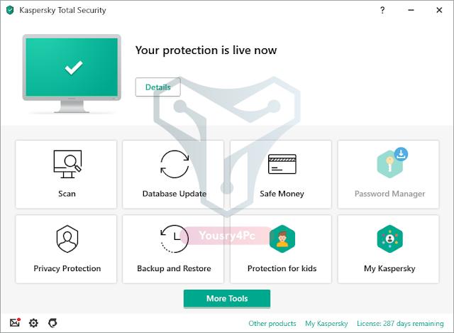تحميل برنامج Kaspersky Total Security كامل بالتفعيل عملاق الحماية من الفيروسات - Yousry4Pc