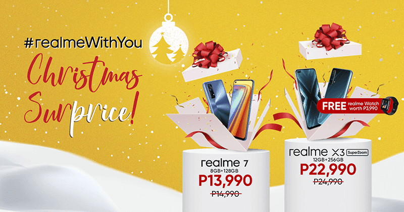 realme 7 and X3 SuperZoom gets price-cut for Christmas!