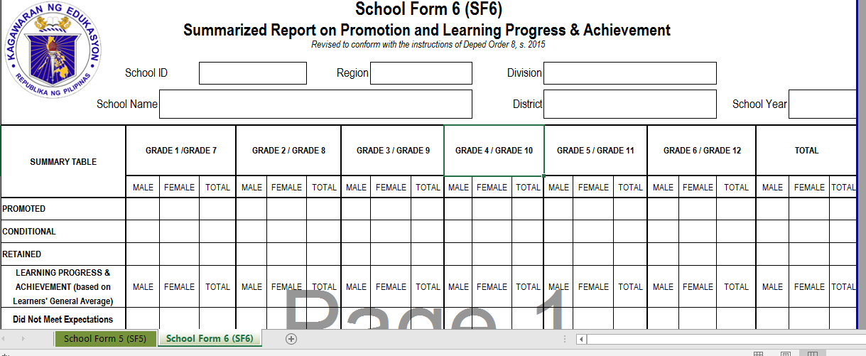 Alpabetong Filipino Worksheet For Grade 1 : March 15 edition of revised adjusted sf 5 and 6 in compliance
