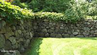 Section of the ha-ha wall, Hill-Stead Museum - Farmington, CT