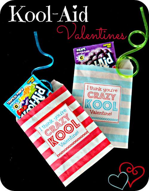 Printable Kool-Aid Valentines @michellepaigeblogs.com