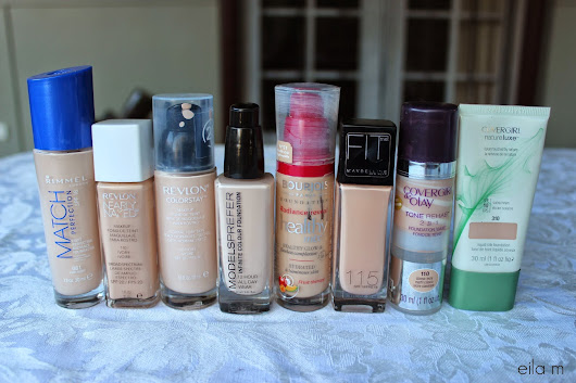 Pale Drugstore Foundation Swatches ♡