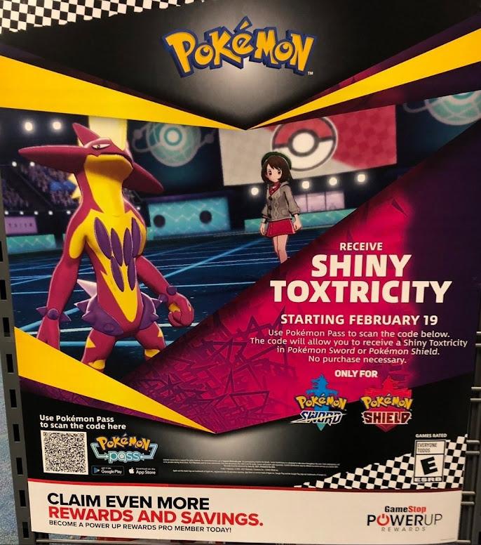 Toxtricity Shiny Pokémon Pass