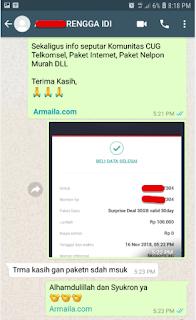 Armila mengucapkan terima kasih banyak kepada Pelanggan Setia Armaila yang telah melakukan pembelian paket Surprise Deal Telkomsel 30GB November 2018 melalui link Daftar Paket Surprise Deal 30GB yang telah kami sediakan.