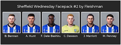 PES 2021 Sheffield Wednesday Facepack #2 by Fleishman