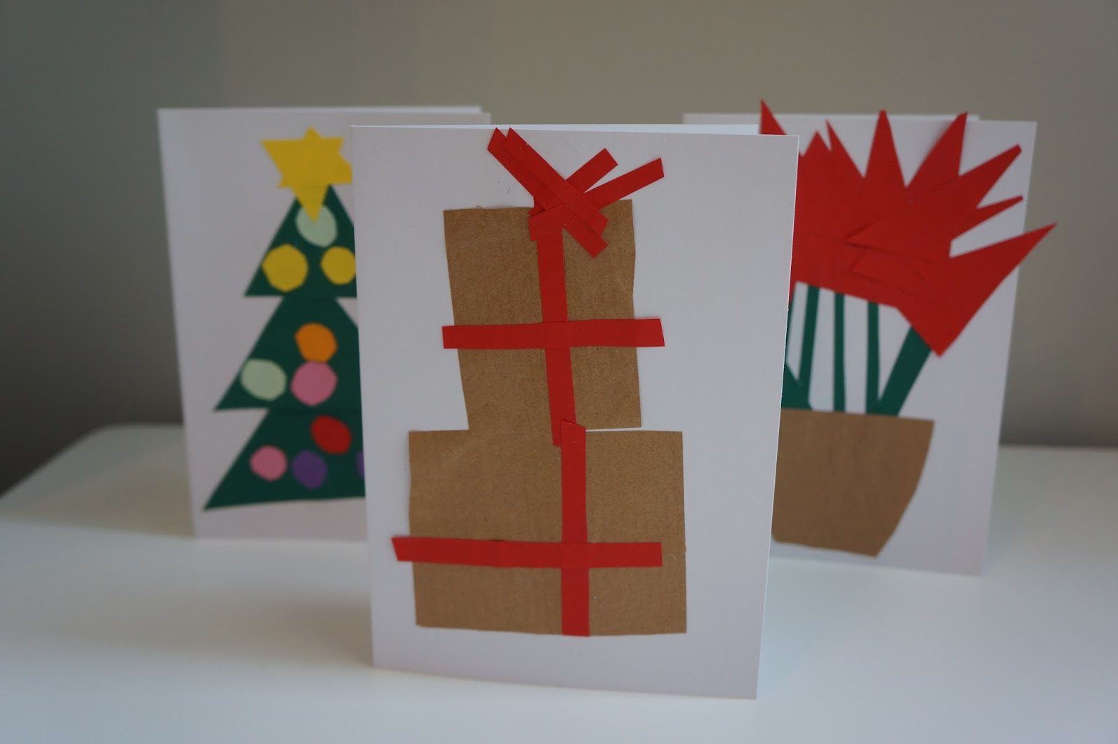 stack of gifts christmas card paper craft