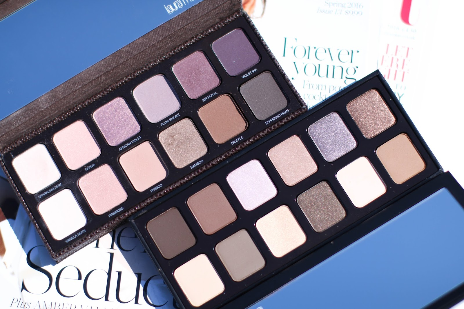 Review and Comparisons: Laura Mercier Artist's Palette vs. Extreme Neutrals Palette with Swatches