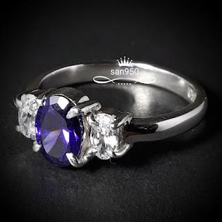 cincin perak batu kecubung