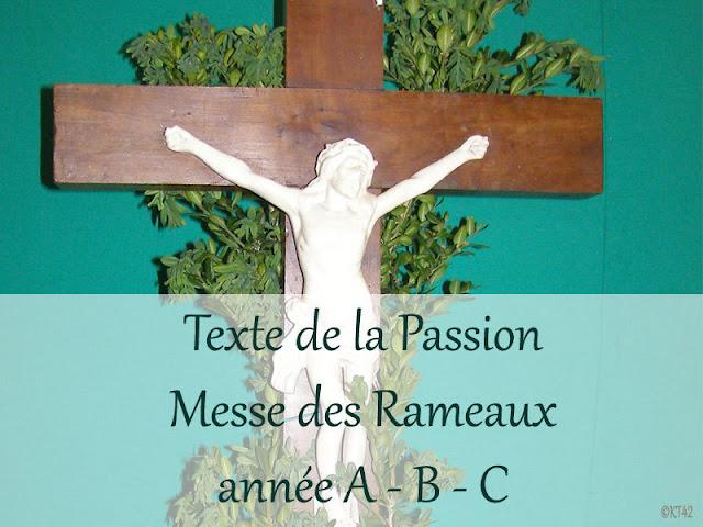 Textes de la Passion pour la messe des Rameaux